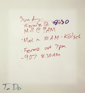 HooDoo Whiteboard on Brewday - Fairbanks Alaska - Photo James Dr. Fermento
