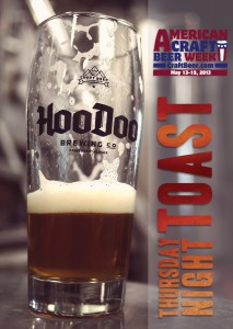 ACBW Toast at HooDoo Brewing Co Alaska
