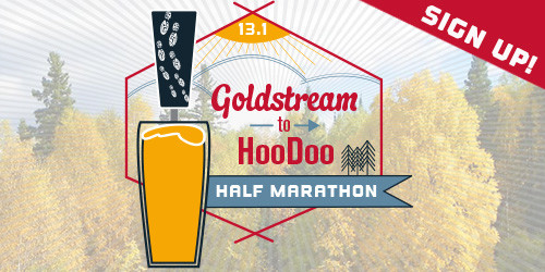 Register for the 3rd Annual Goldstream to HooDoo Half-marathon